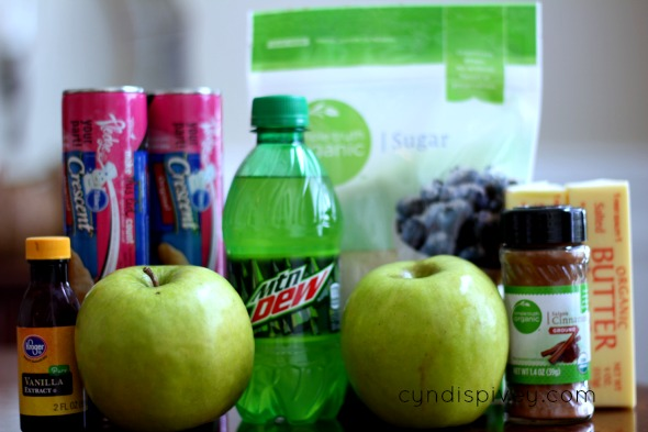 ingredients for apple turnovers