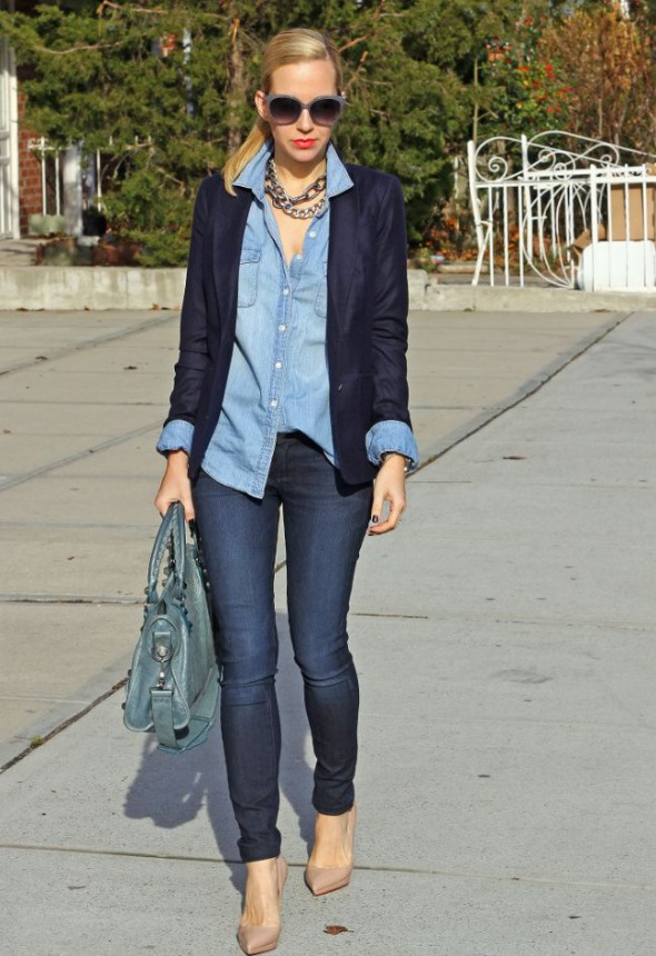 Chambray and jeans
