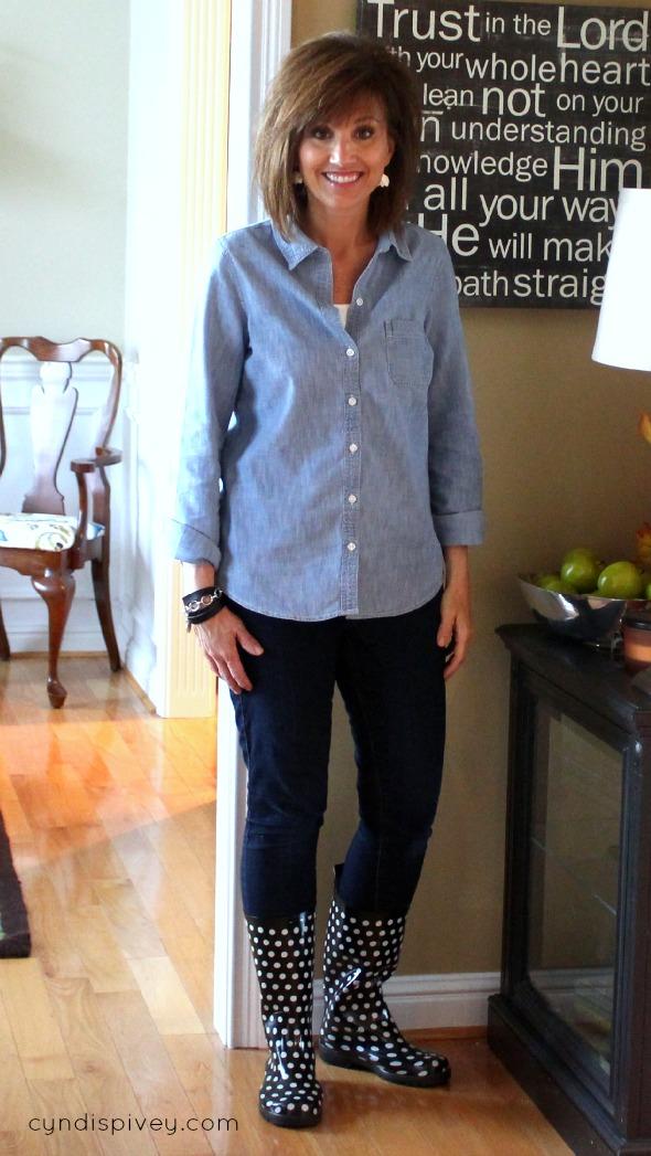 Building Your Fall Wardrobe {Chambray Shirt}