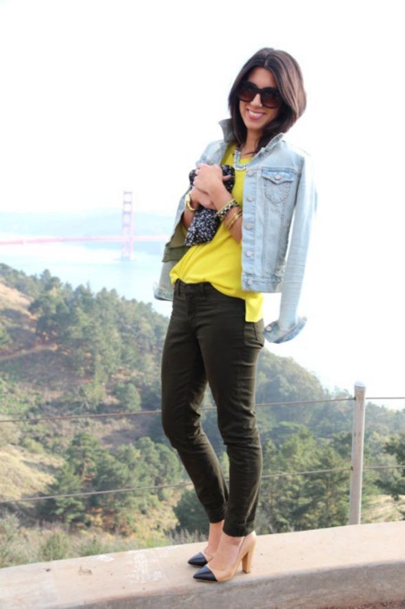 jean jacket with heels