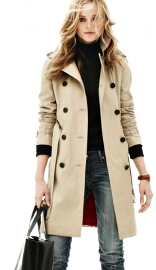trench coat with black turtleneck