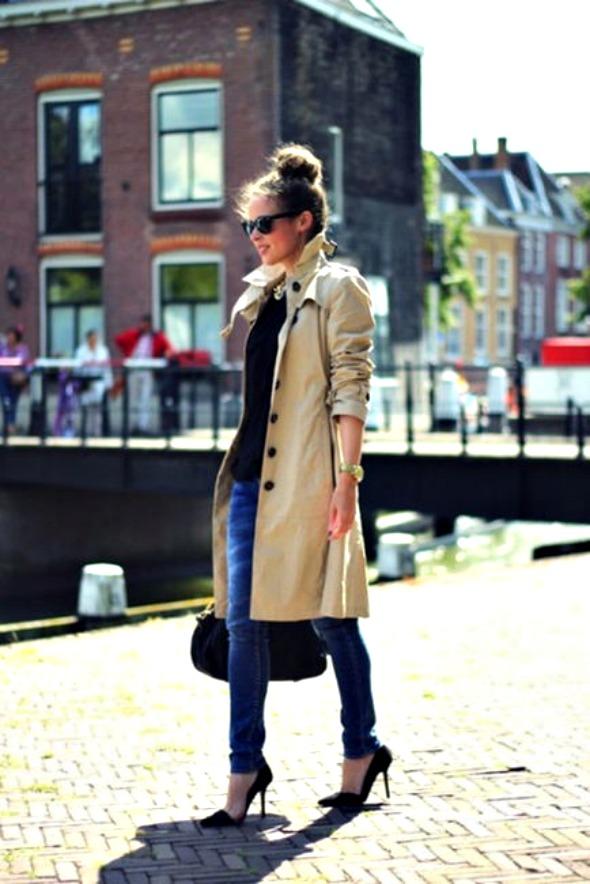 trench coat with heels