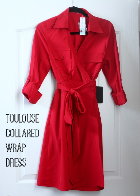 Toulouse Collared  Wrap Dress