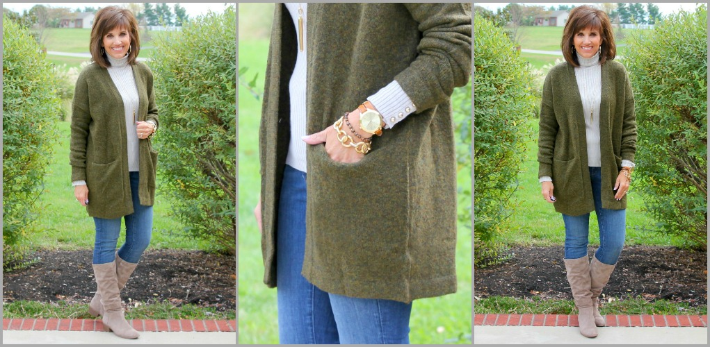 Cardigan and Turtleneck-25 Days of Winter Fashion (Day 3)
