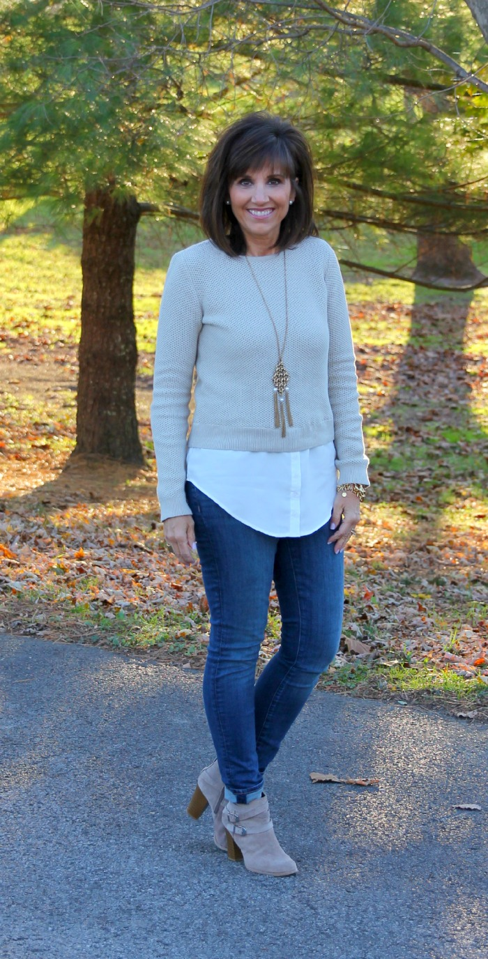 Layered Top and Booties-25 Days of Winter Fashion (Day 4)
