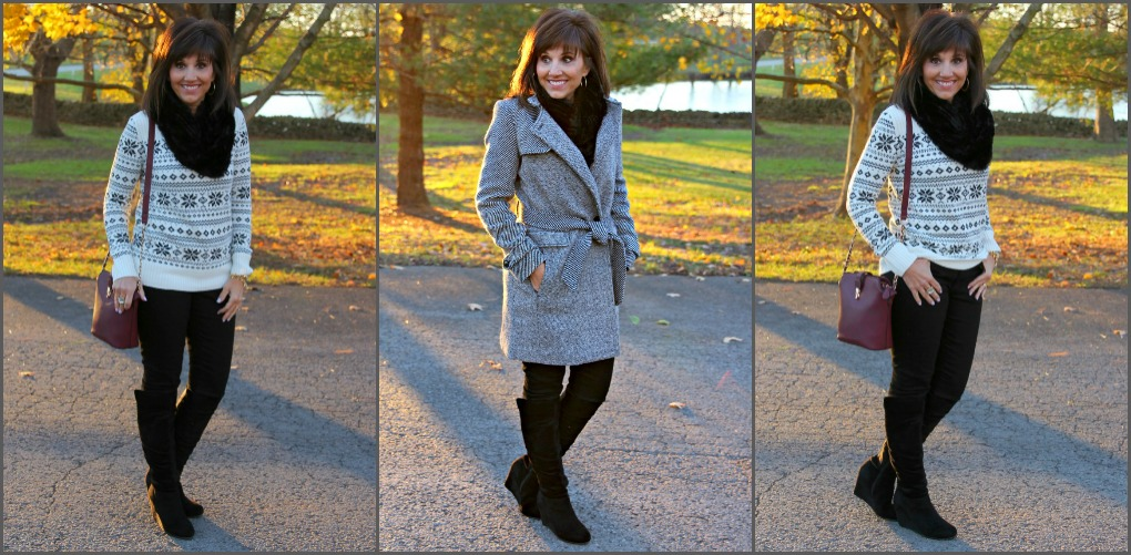 Sweater & Coat-25 Days of Winter Fashion (Day 10)