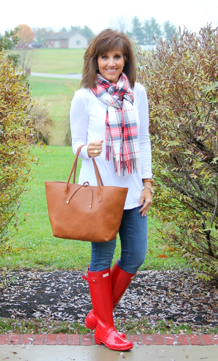 Red Hunter Boots-26 Days of Winter Fashion (Day 13)