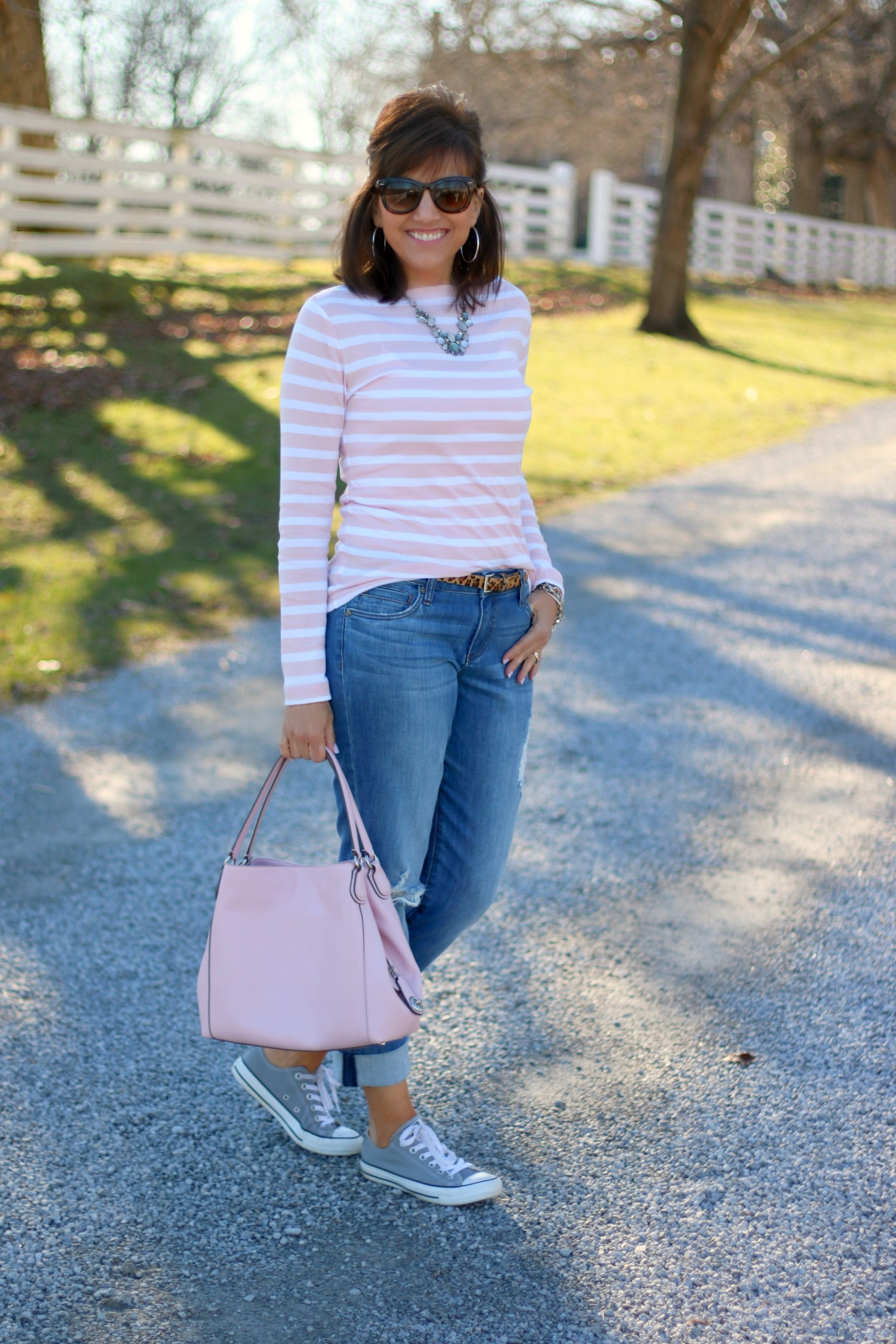 27 Days of Spring Fashion: Stripes and Leopard Print