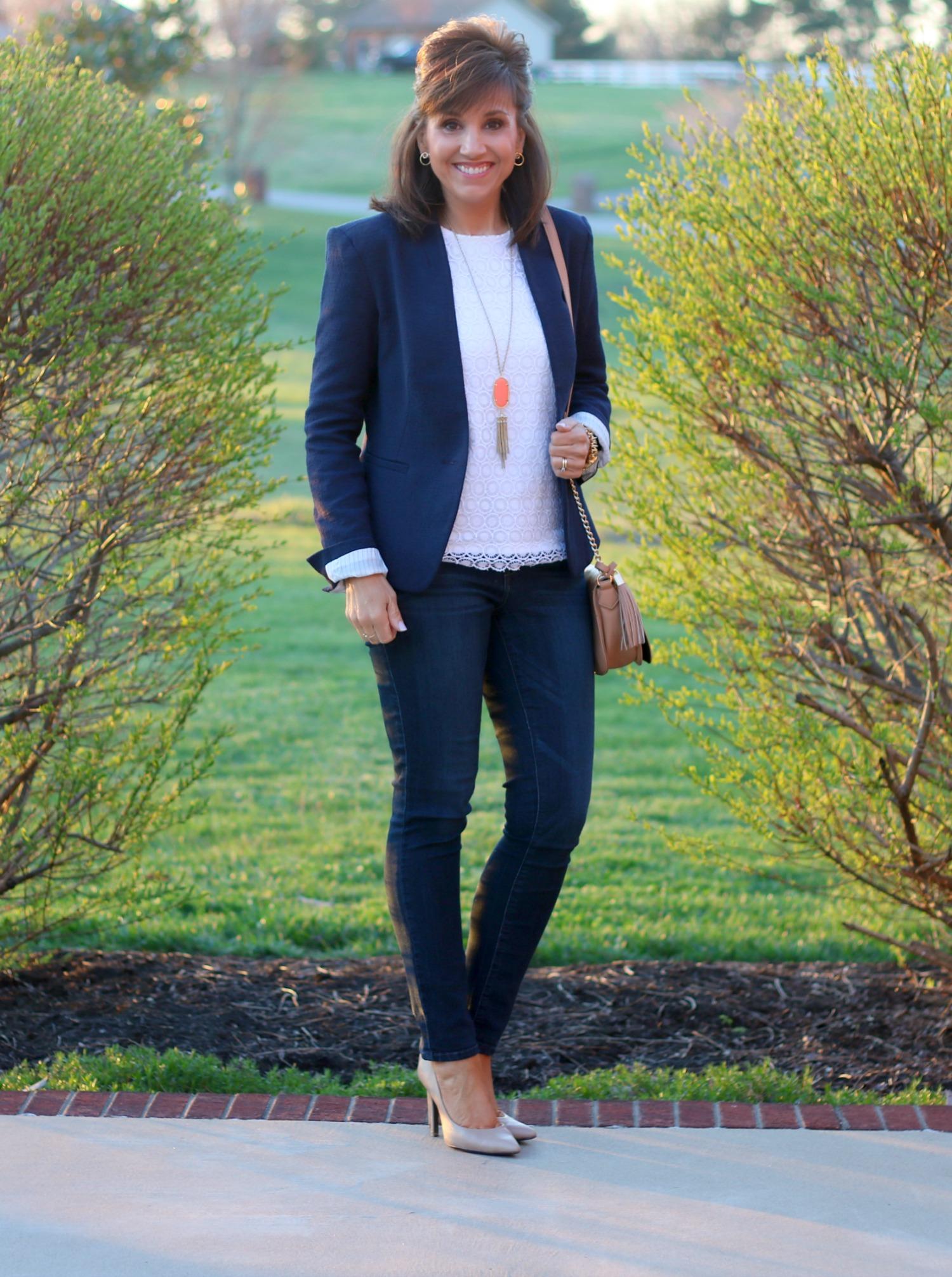 27 Days of Spring Fashion: Navy Blazer