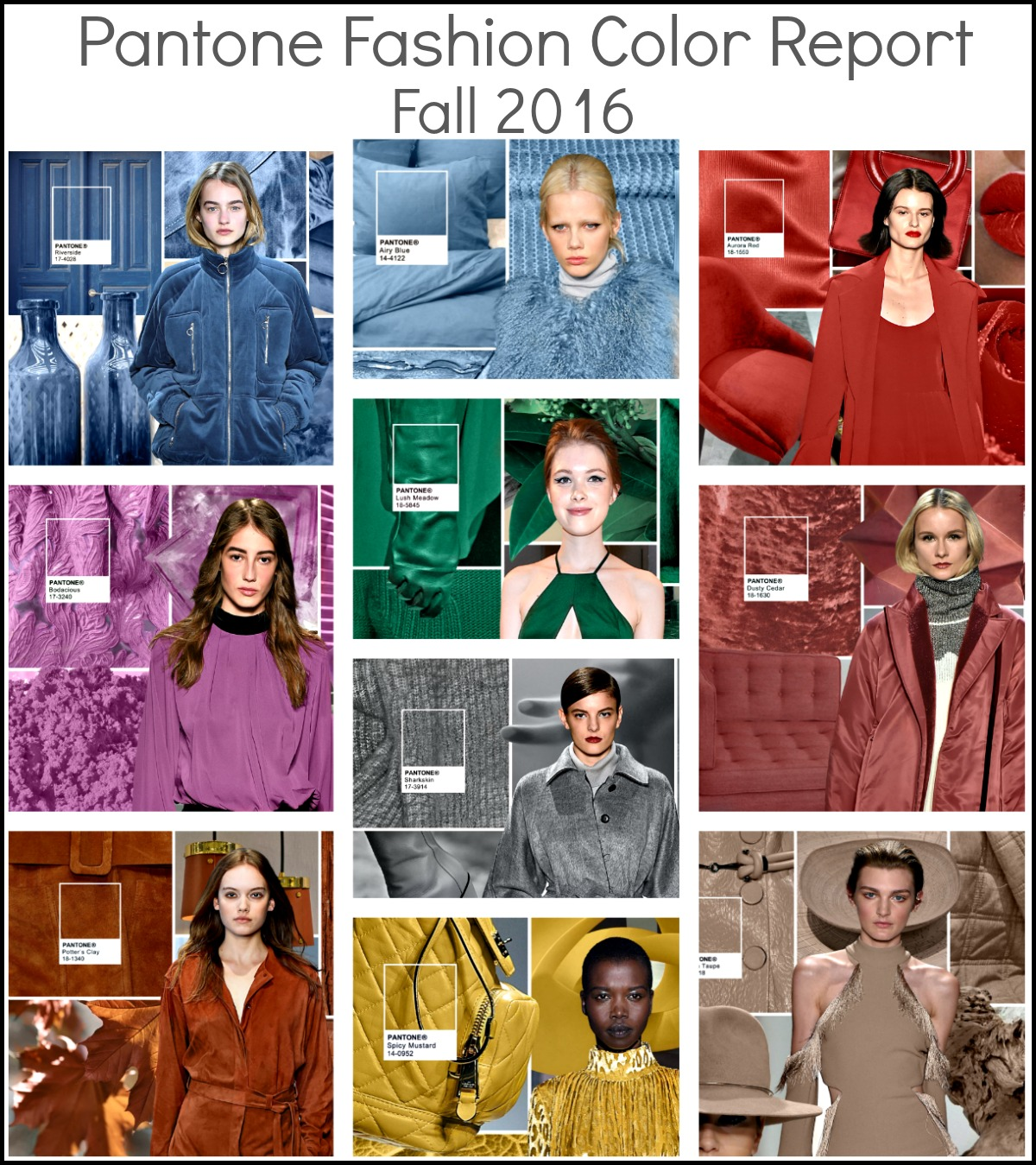 Fall Fashion Color Report 2016