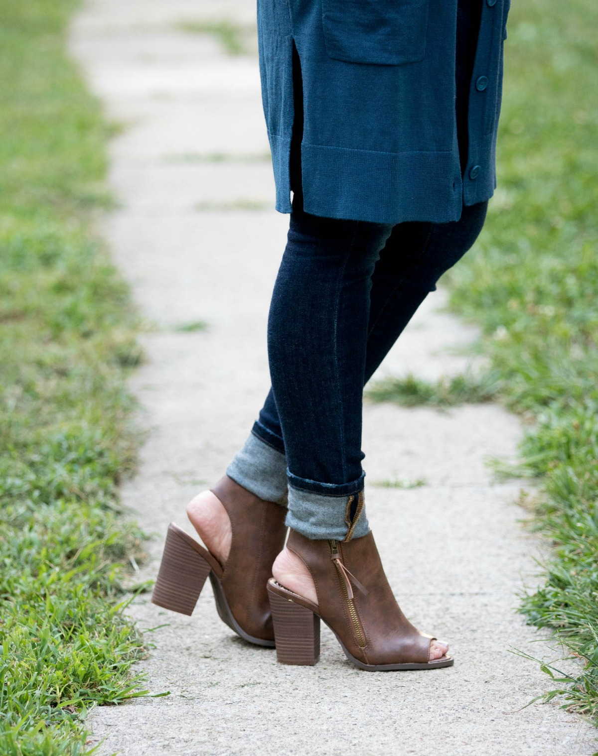 Fall Fashion-Peep Toe Booties from Payless