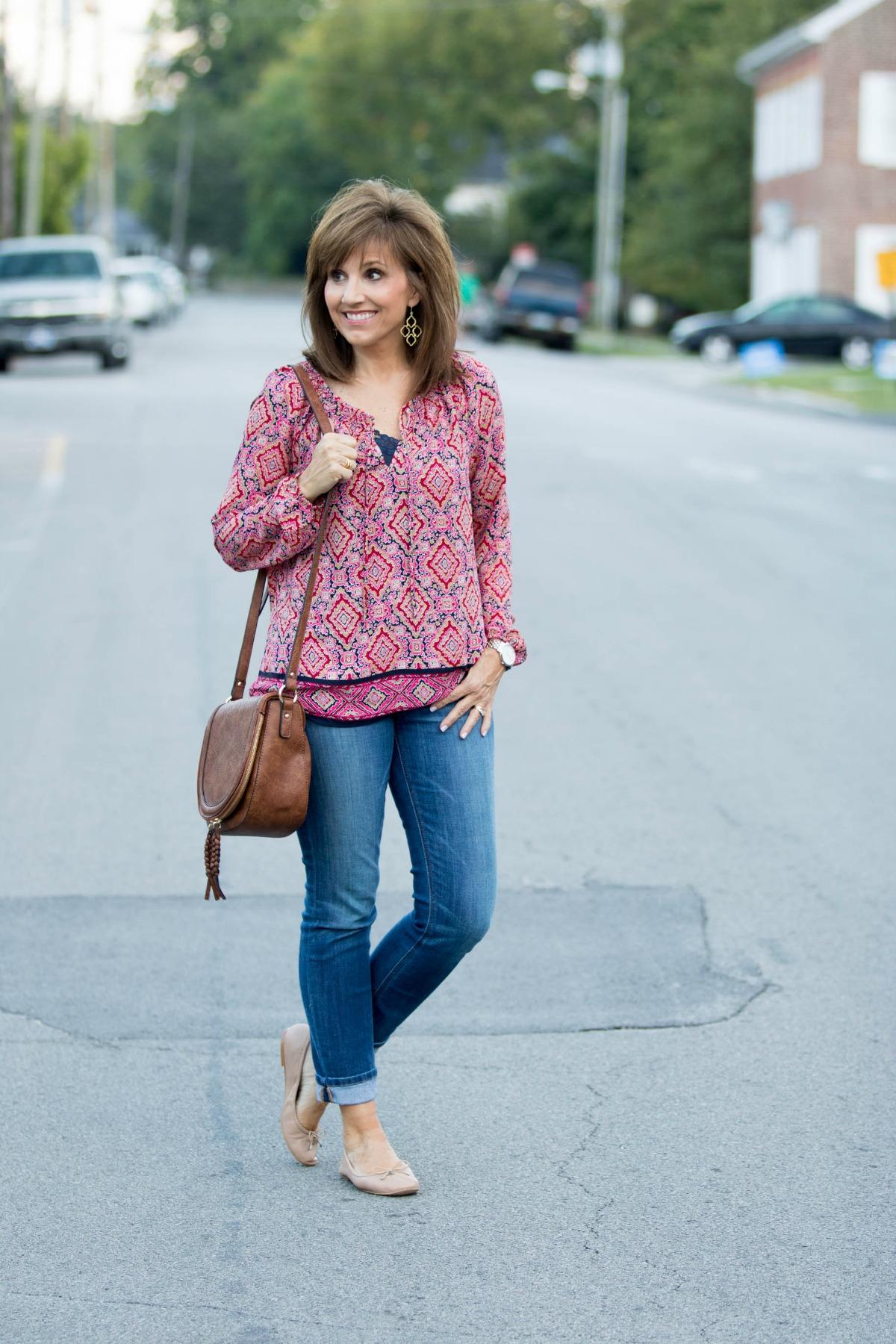 Fall Fashion-Gap Smock Blouse