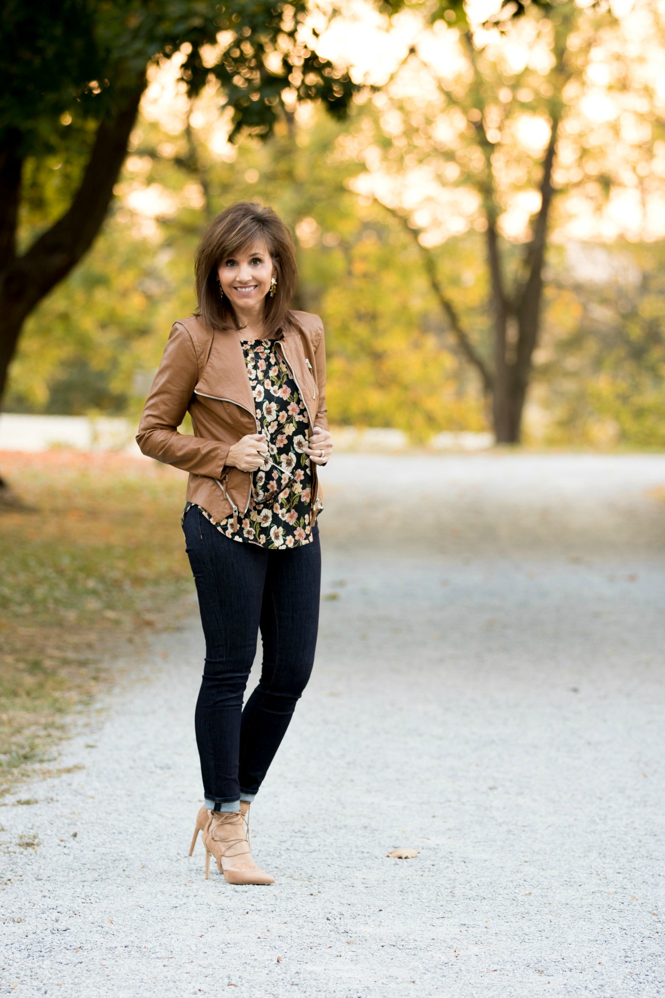 Fashion blogger, Cyndi Spivey, shares the floral and lace up trend from Nordstrom.