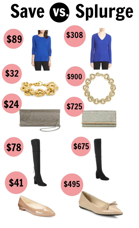 Sharing save vs. splurge items for fall.