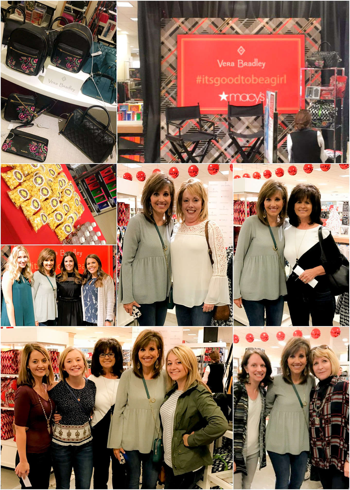 Vera Bradley Event at Macy's with fashion blogger, Cyndi Spivey.