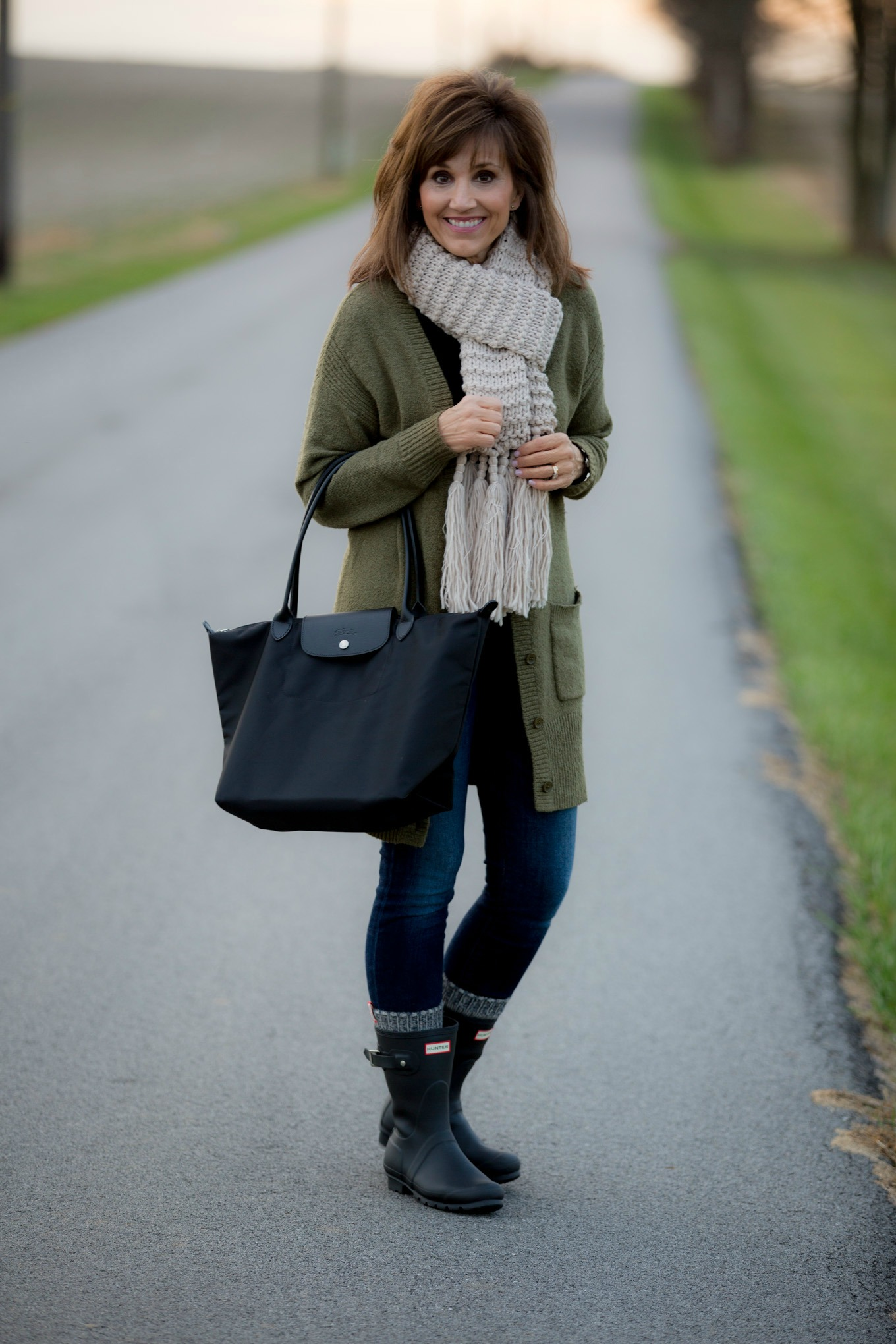 Outfit with casual outfits with hunter boots | Chicisimo