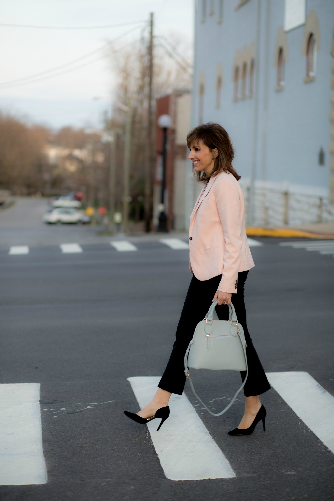Spring Blazer and Cropped Flare Pants