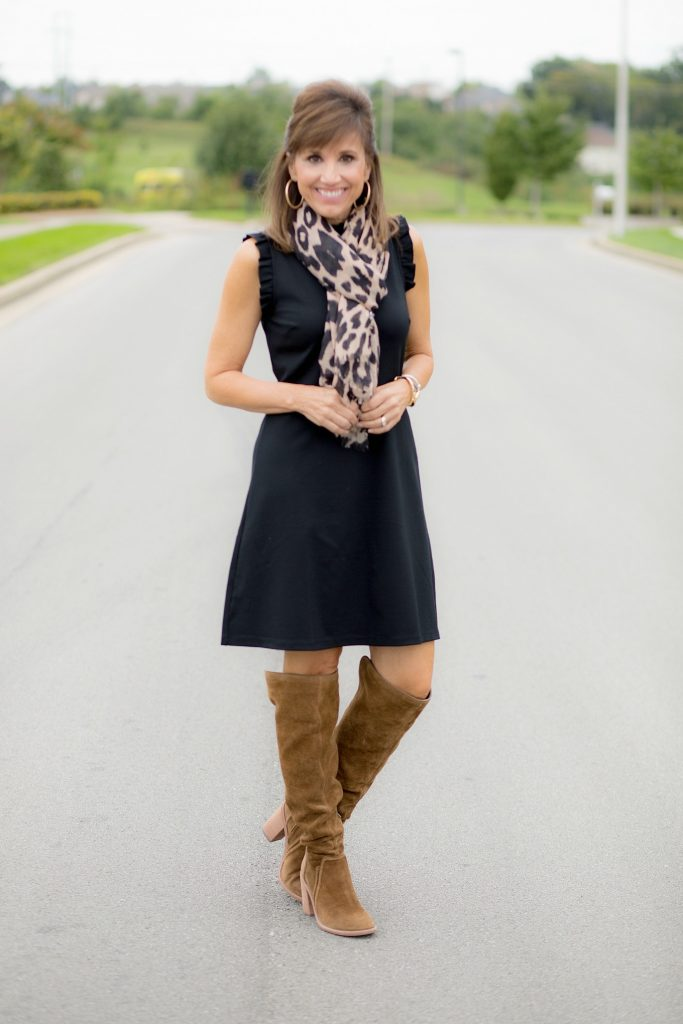 How To Style A Sleeveless Black Dress For Fall Cyndi Spivey