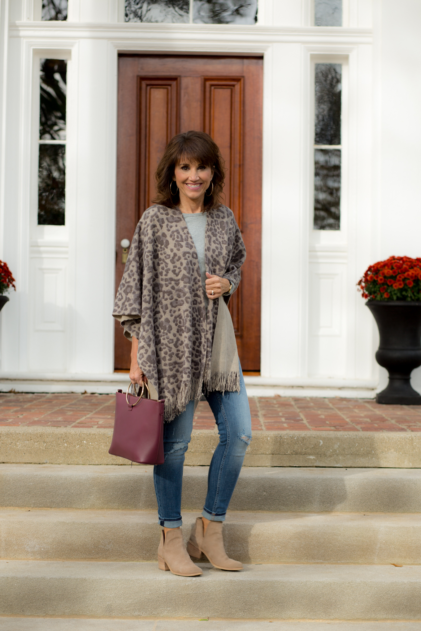 Leopard Print Fringe Wrap-Easy Look For Fall
