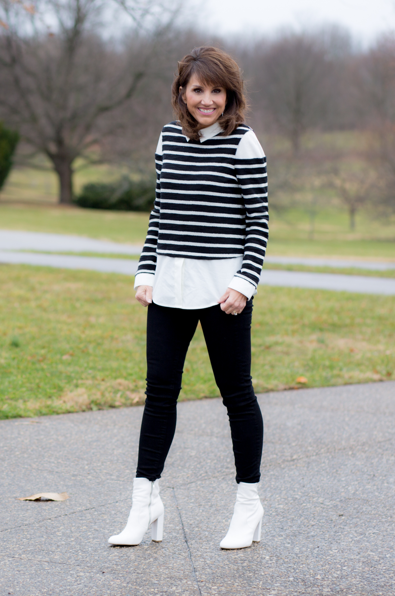 25 Days Of Winter Fashion: How To Style White Boots