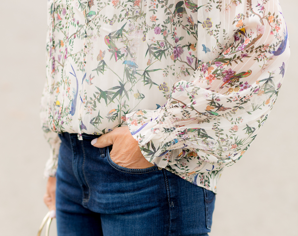 Floral Blouse-Thanksgiving Day Outfit