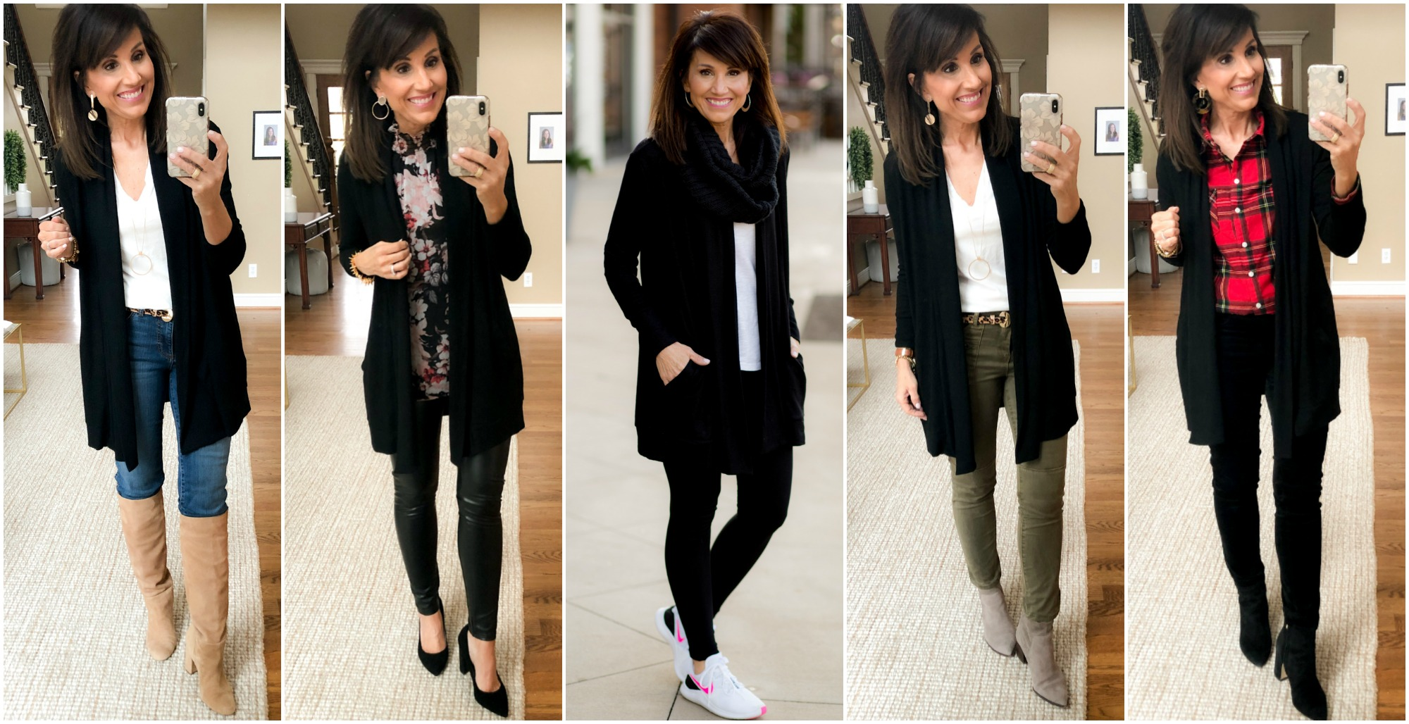 Striped Cardigan and January Favorites
