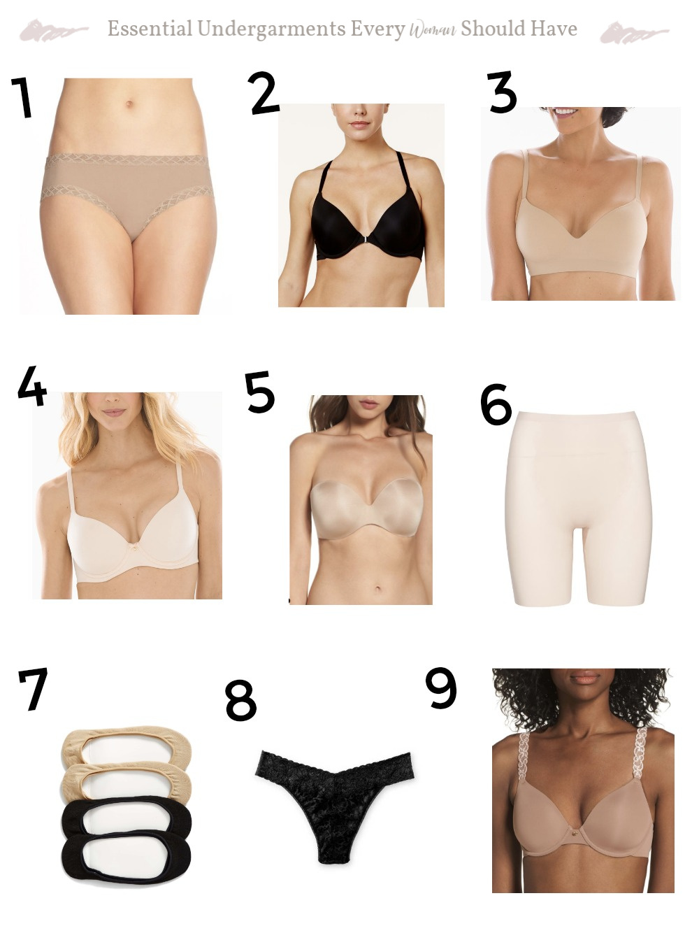 Essential Undergarments Every Woman Should Have