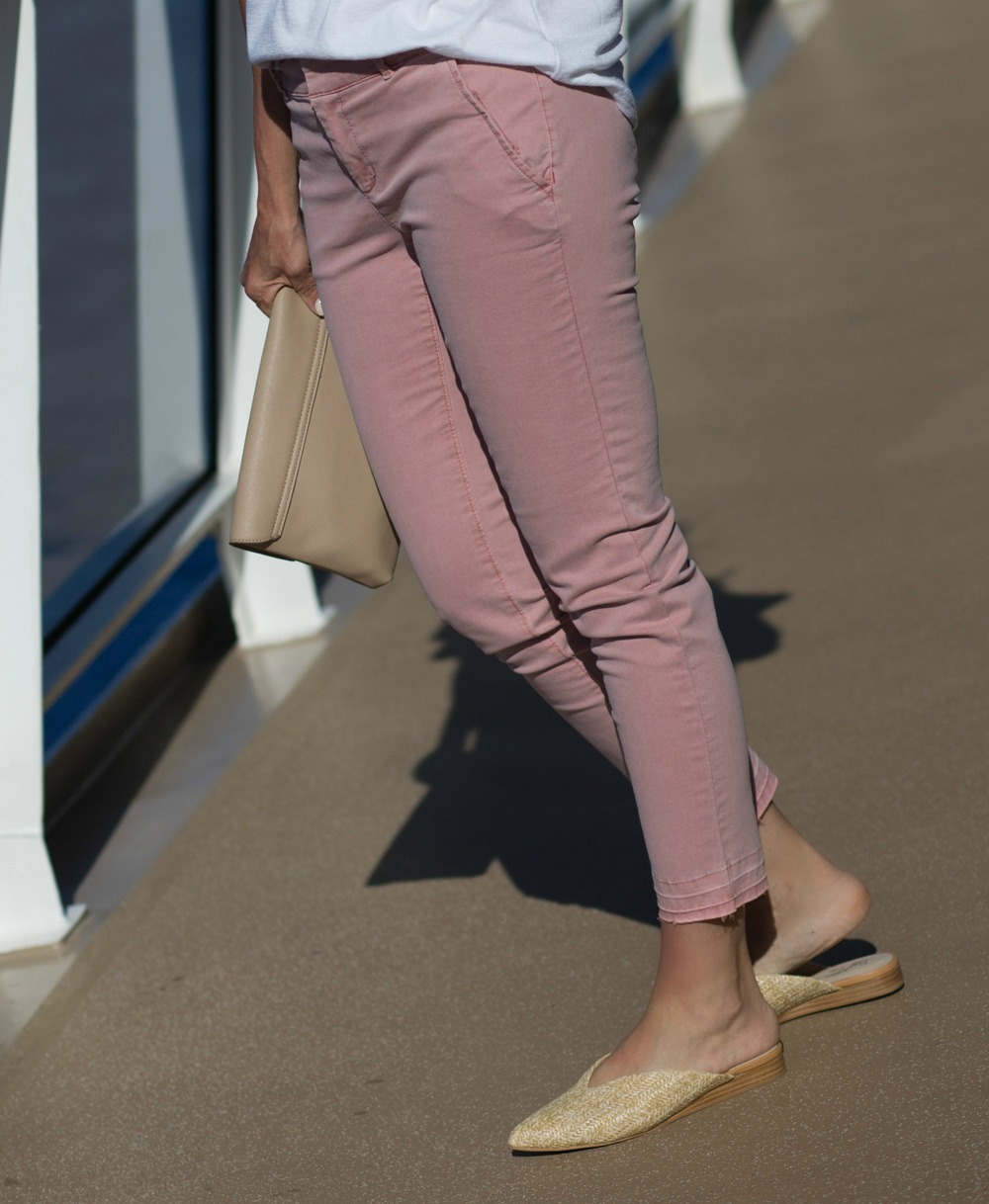 White Top with Pink Chinos