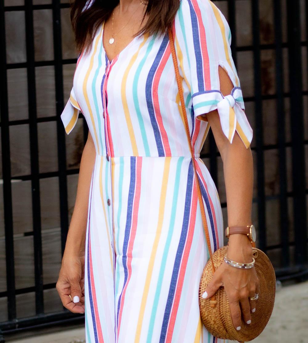 Striped Midi Dress Under $30