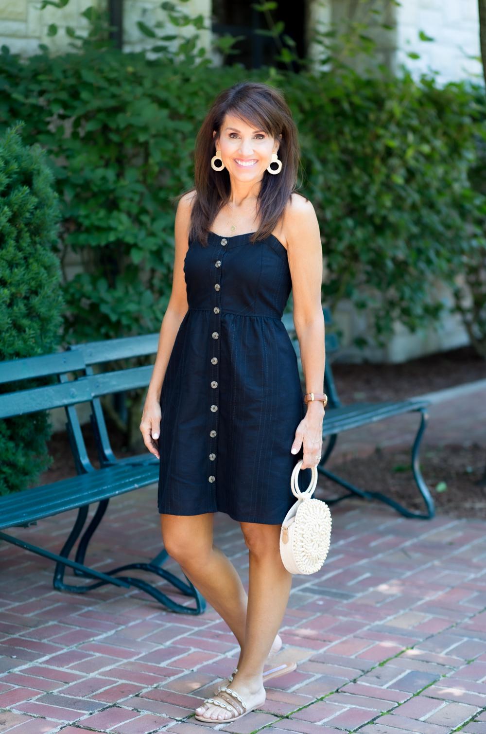 Button-Front Short Dress from Target