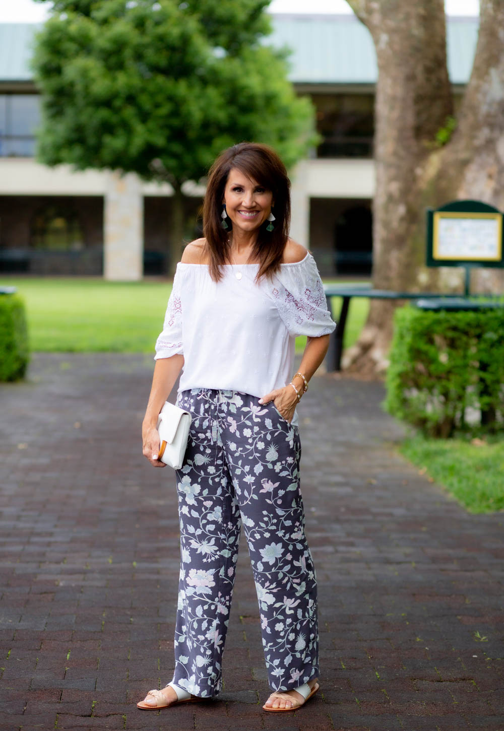 Summer Floral Pants from LOFT