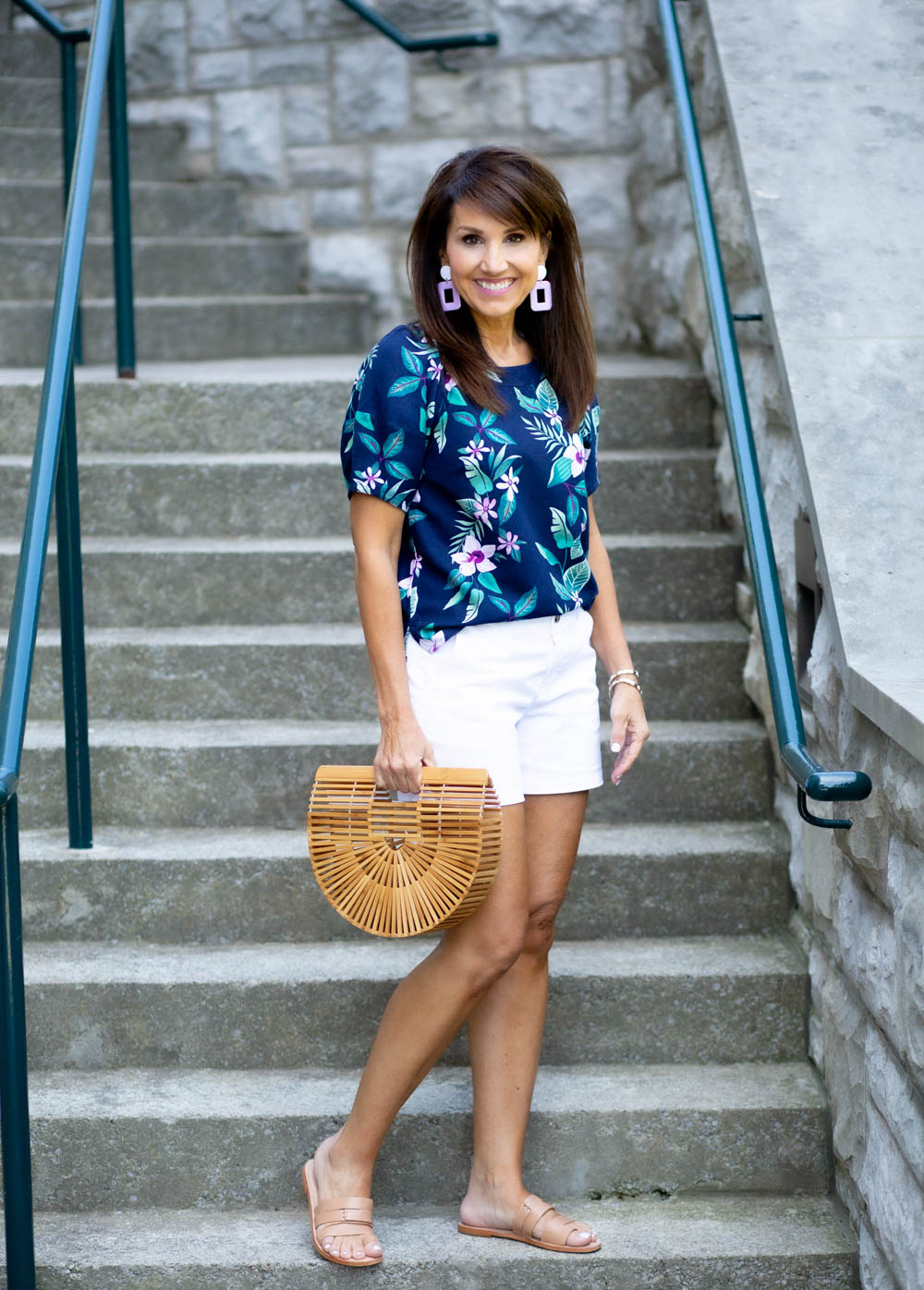 Floral Print And White for Summer