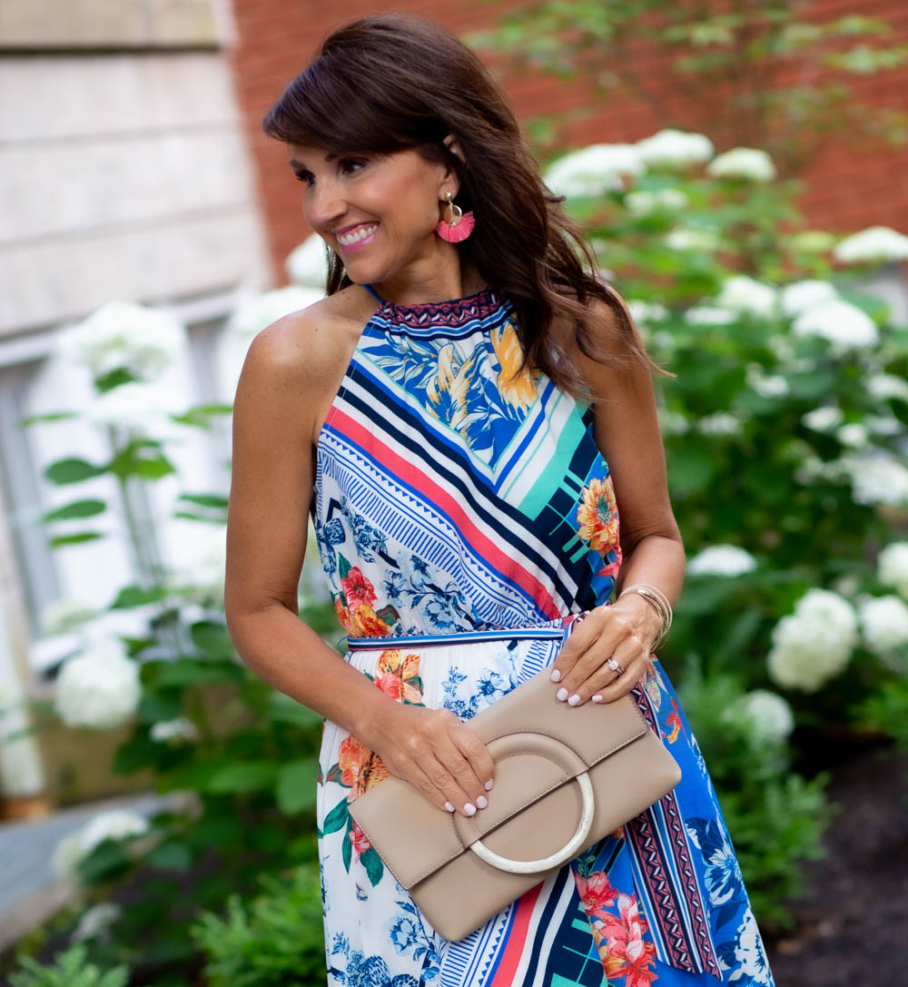 Printed Halter Dress from Social Threads