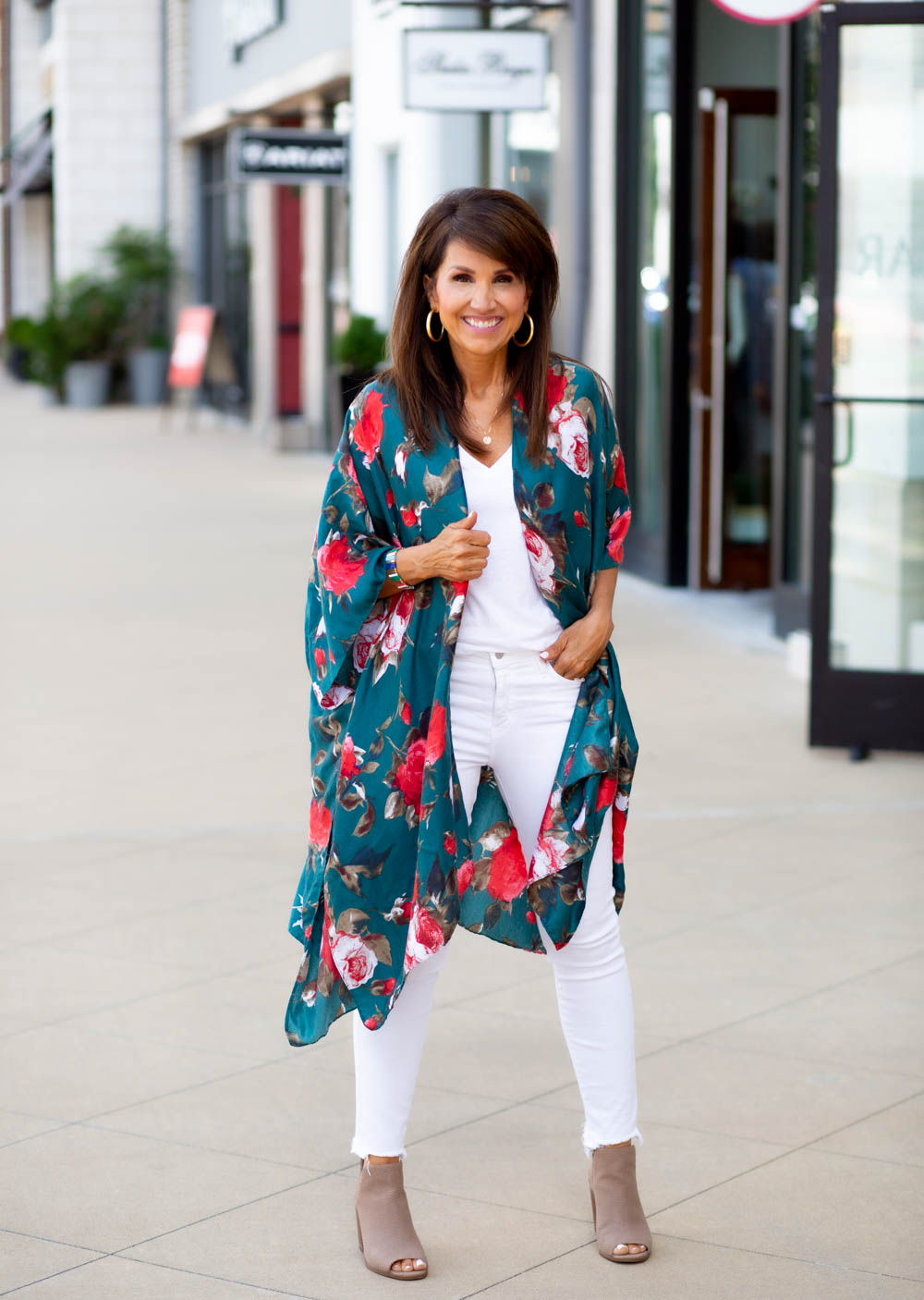 Colorful Floral Kimono from Sole Society
