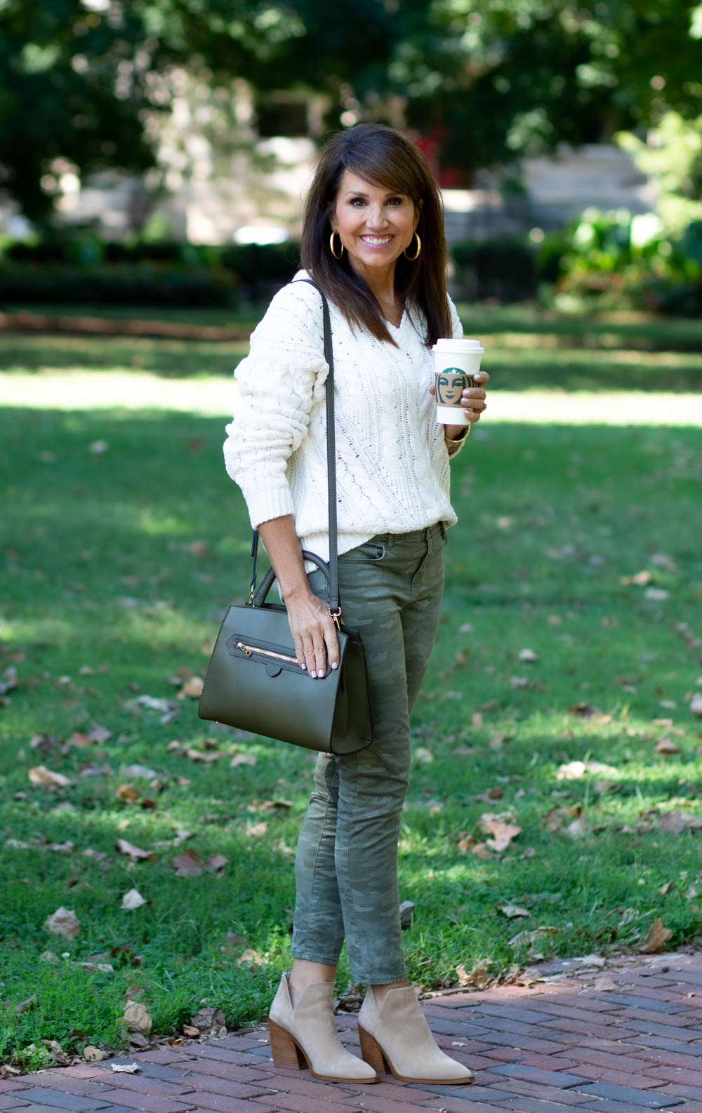 3 Ways to Style a Chunky V-Neck Sweater