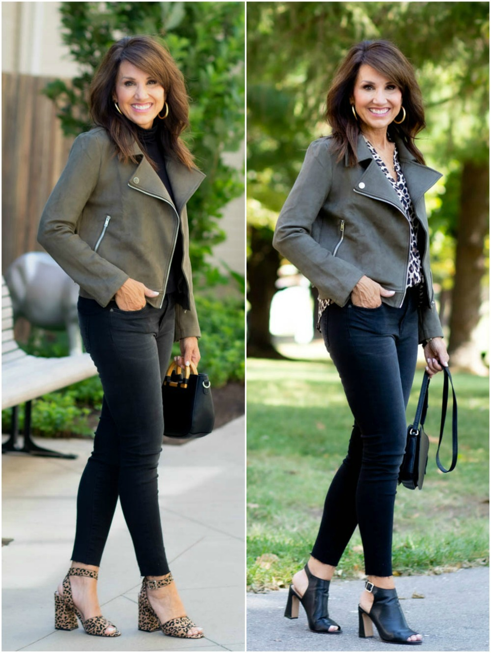 Two Ways To Style a Moto Jacket