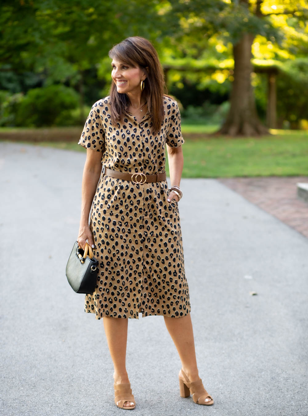 Wednesday Work Wear: Leopard Midi Dress