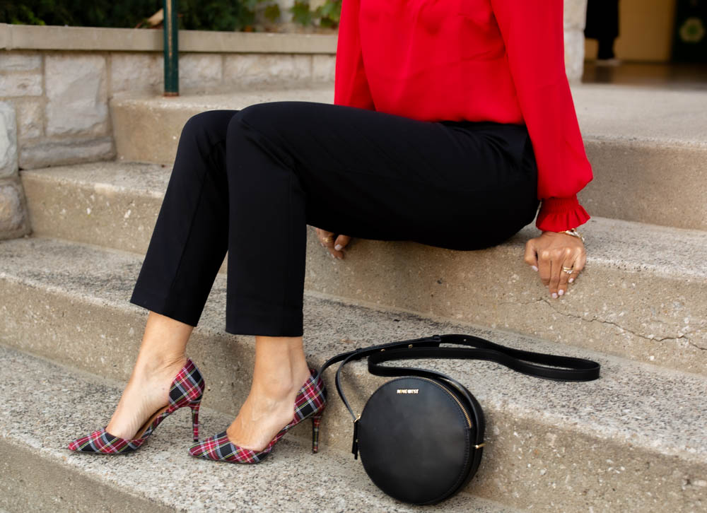 Plaid Heels-Holiday Style