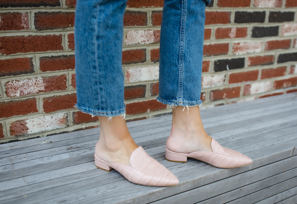 Crop Jeans with Two Different Spring Shoes