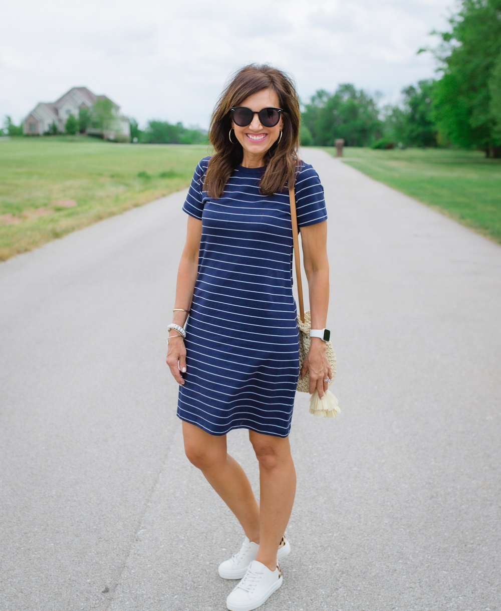 Casual Striped Dress from Old Navy