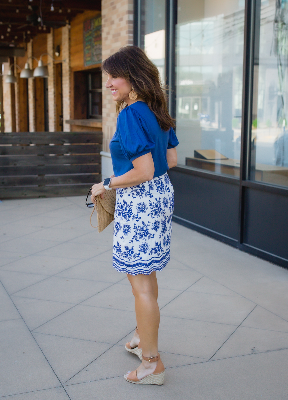 Puff Sleeves + Embroidered Skirt
