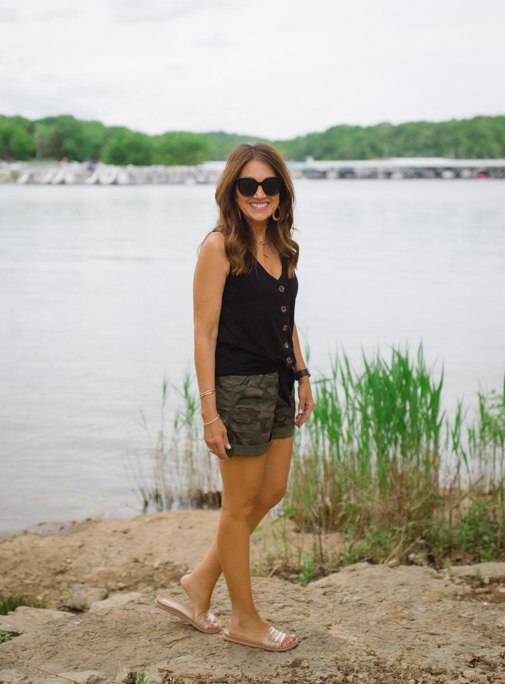 Casual Wear- Sleeveless Top & Shorts