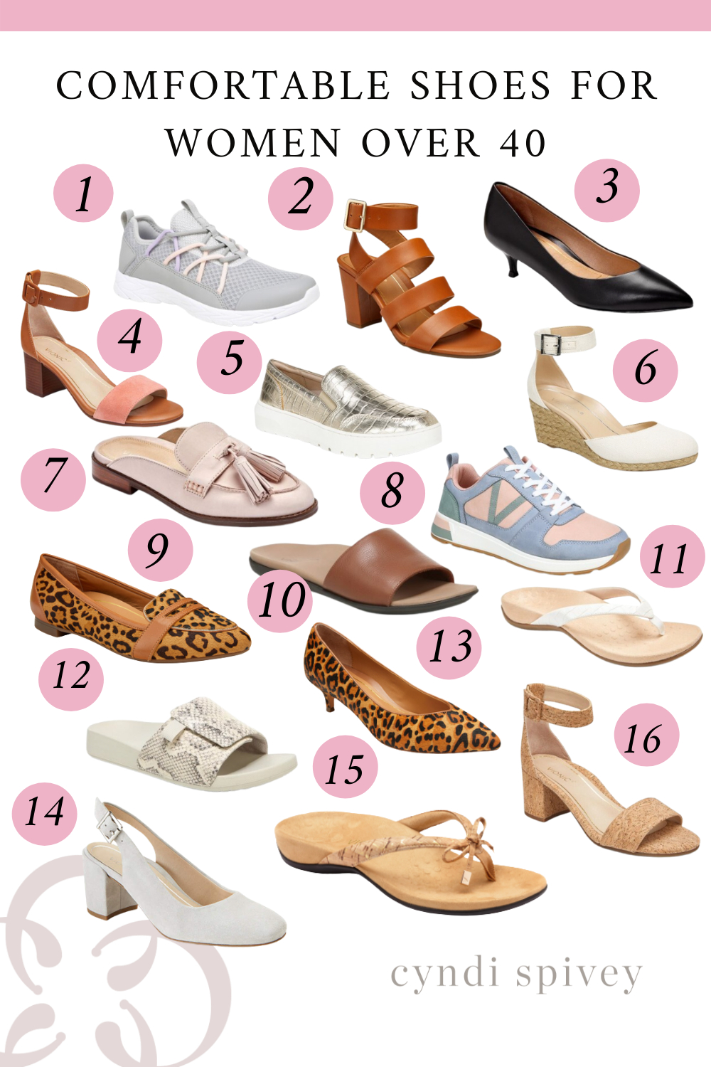 Comfortable Shoes for Women Over 40