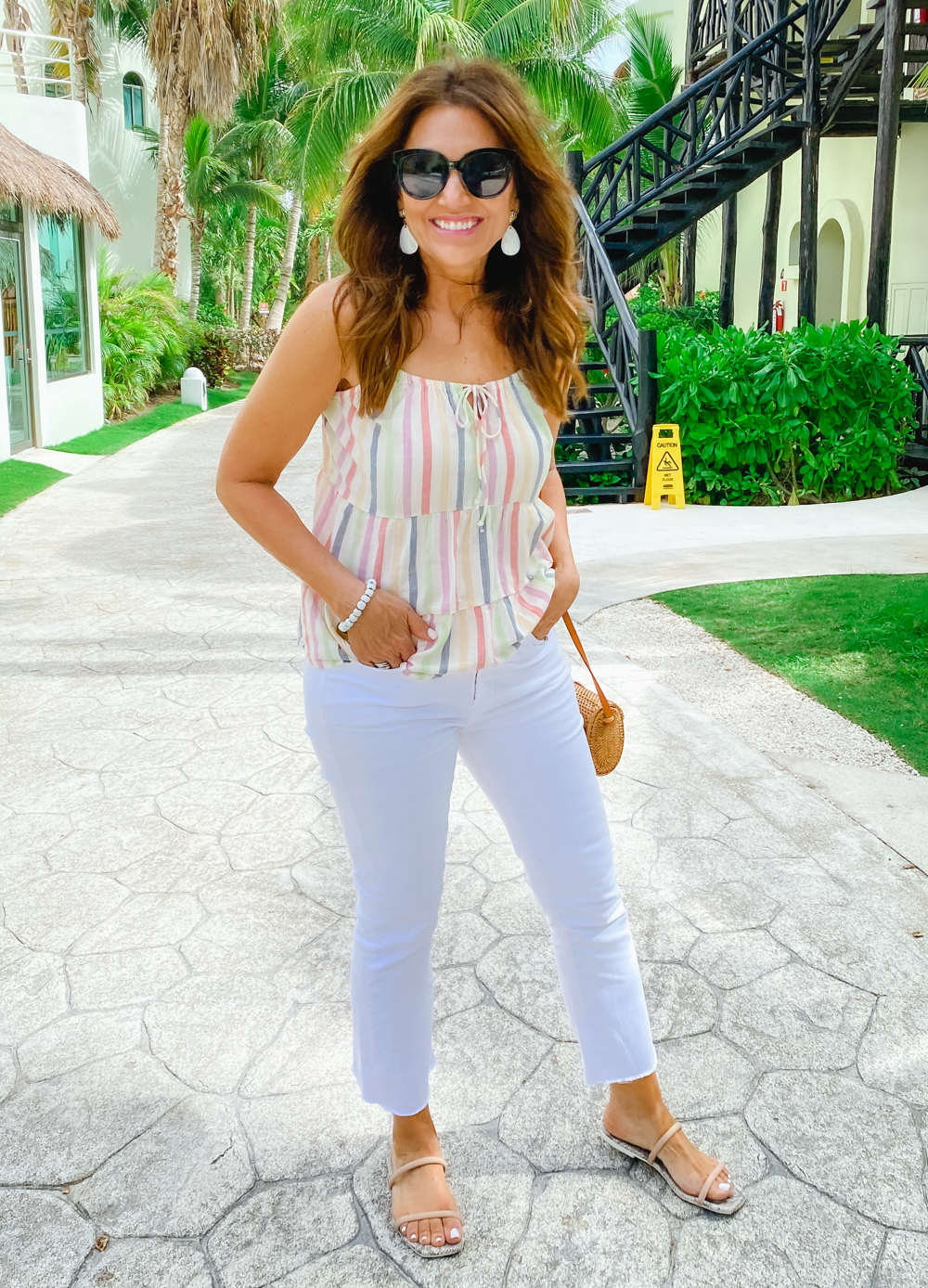 Summer Style Series: How to Style Sandals with White Jeans