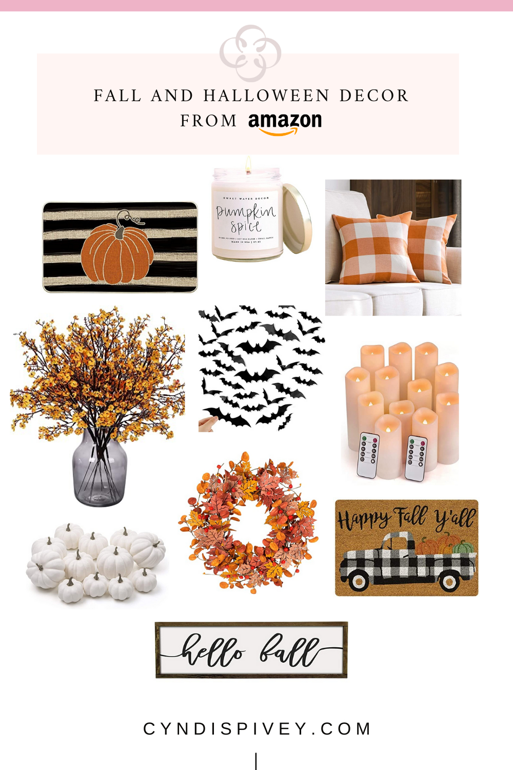 Fall and Halloween Decor from Amazon